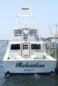Relentless destin fishing charters
